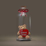 Valentine Bottle Stock Image
