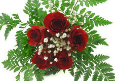 Valentine Bouquet. Bouquet of five red roses Royalty Free Stock Photo