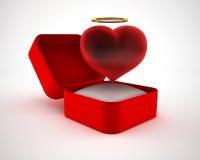 Valentine box 3D Royalty Free Stock Image