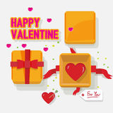 Valentine box with heart -  Royalty Free Stock Photography