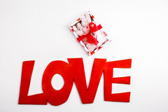 Valentine box of white cookies Royalty Free Stock Image