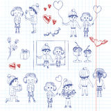 Valentine boy and girl in love Royalty Free Stock Photo