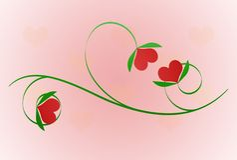 Valentine Branch Stock Image