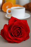 Valentine breakfast Stock Photo