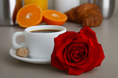 Valentine breakfast Stock Images