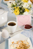 Valentine breakfast royalty free stock photo