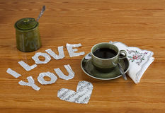 A Valentine breakfast Royalty Free Stock Photos