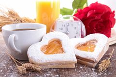 Valentine breakfast Stock Image