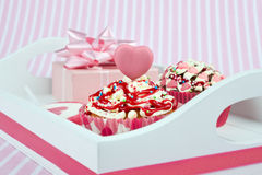 Valentine breakfast tray Royalty Free Stock Photography