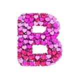 Valentine-brief B - Hoofd 3d hartdoopvont - geschikt voor de dag van Valentine, romantism of hartstocht verwante onderwerpen vector illustratie
