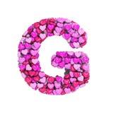Valentine-brief G - Hoofd 3d hartdoopvont - geschikt voor de dag van Valentine, romantism of hartstocht verwante onderwerpen vector illustratie