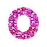 Valentine-brief O - Grote 3d hartdoopvont - geschikt voor de dag van Valentine, romantism of hartstocht verwante onderwerpen vector illustratie