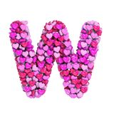 Valentine-brief W - Hoofd 3d hartdoopvont - geschikt voor de dag van Valentine, romantism of hartstocht verwante onderwerpen vector illustratie