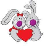 Valentine Bunnies Arkivbild