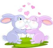 Valentine Bunnies Stock Image