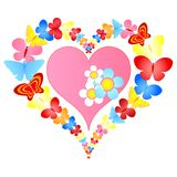 Valentine butterflies heart Stock Photos