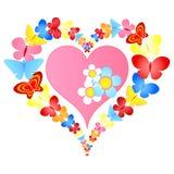 Valentine Butterflies Heart Stock Photos