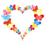Valentine butterflies heart frame Royalty Free Stock Images