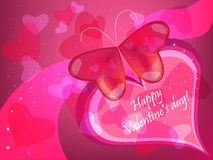 Valentine butterfly Stock Photos
