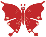 Valentine Butterfly Stock Photography