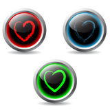 Valentine buttons 2 Royalty Free Stock Image