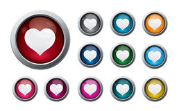 Valentine buttons #2 Stock Photography