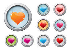 Valentine buttons Stock Image