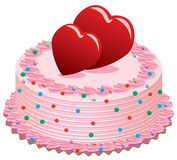 Valentine cake Stock Photo
