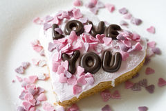 Valentine cake Stock Photography