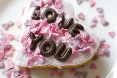 Valentine cake Royalty Free Stock Image