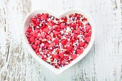 Valentine cake decorations Royalty Free Stock Photography
