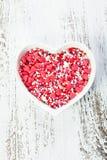 Valentine cake decorations Royalty Free Stock Photo