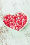 Valentine cake decorations Stock Photo