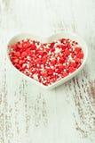 Valentine cake decorations Stock Photography