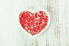 Valentine cake decorations Royalty Free Stock Image