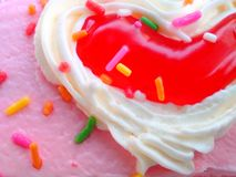 Valentine cake Royalty Free Stock Photos