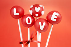 Valentine cake pops Royalty Free Stock Photography