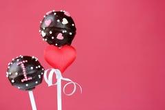 Valentine cake pops Royalty Free Stock Photography