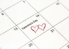 Valentine Calendar Royalty Free Stock Photos