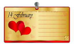 Valentine calendar Royalty Free Stock Photography