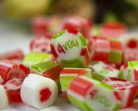 Valentine candies Stock Photography