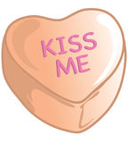 Valentine candies orange royalty free stock photo
