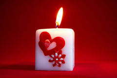 Valentine candle Royalty Free Stock Photos
