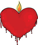 Valentine candle. Illustration with big red Valentine candle Stock Images