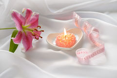 Valentine candle Royalty Free Stock Photography