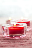 Valentine candles Stock Image