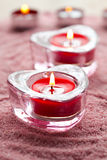 Valentine candles Royalty Free Stock Photo