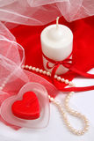 Valentine candles Royalty Free Stock Image