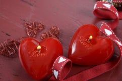 Valentine candles Stock Photo
