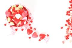 Valentine candy. Studio on white stock photo